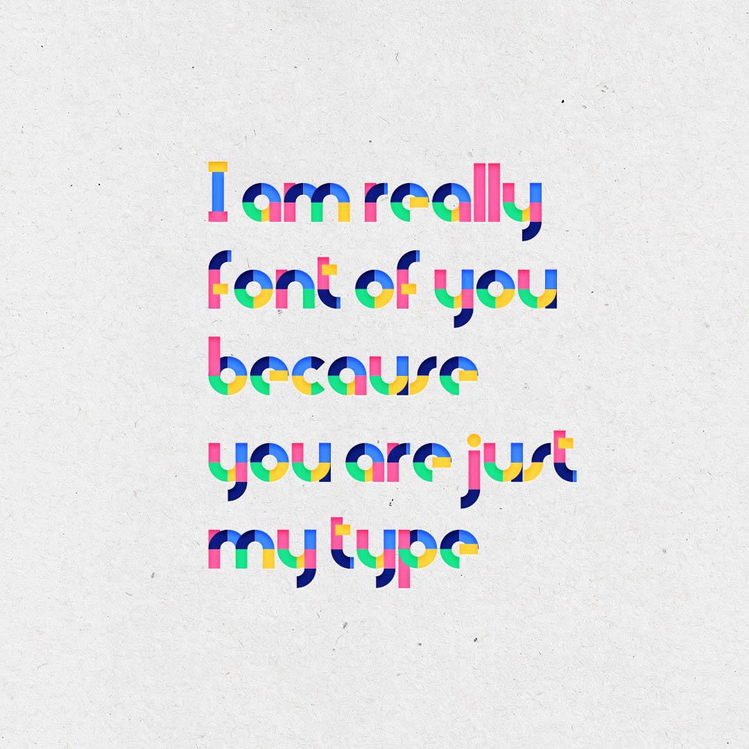 Quote for a colorful typeface Candy Font
