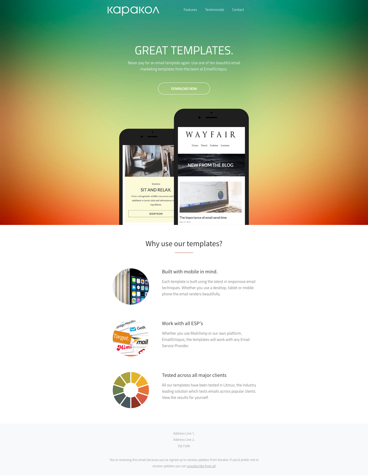 1500+ Free Responsive Email Templates