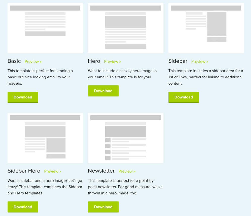 1500 Free Responsive Email Templates
