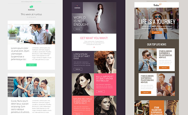 3 free responsive email templates