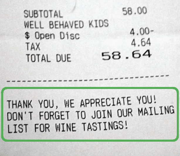 Building restaurants email list using hard copy of bill