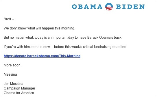 Done to Obama Campaign
