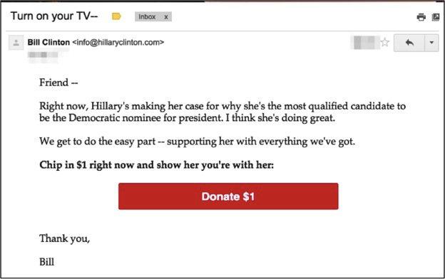 Donate to Bill Clinton campaign