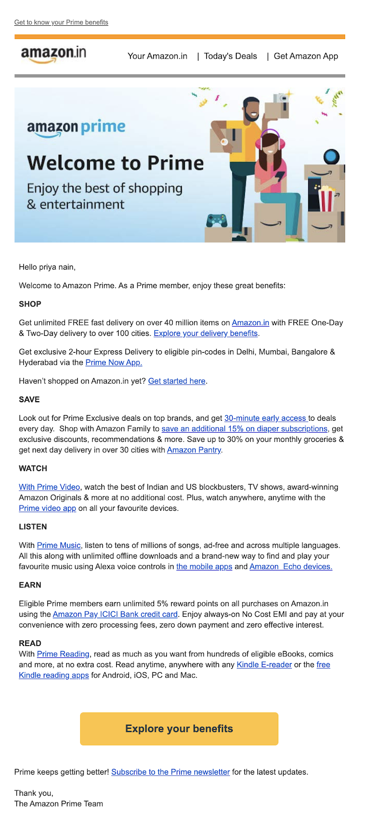Amazon Retail Email Campaigns
