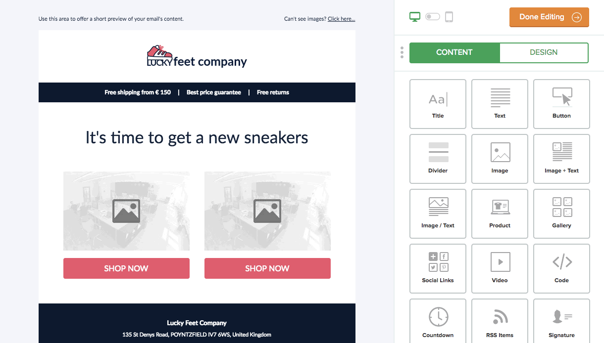 MailerLite shopify email marketing app