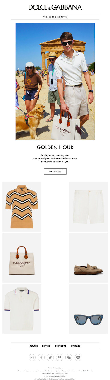 Fashion email marketing best practice: use charming visuals