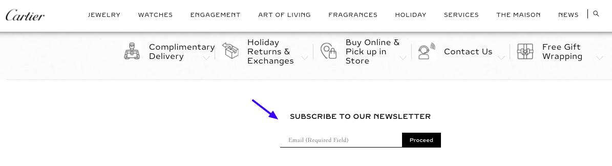 Luxury email marketing