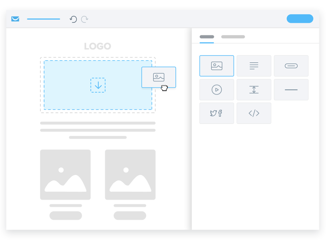 Drag and drop editor by GetResponse