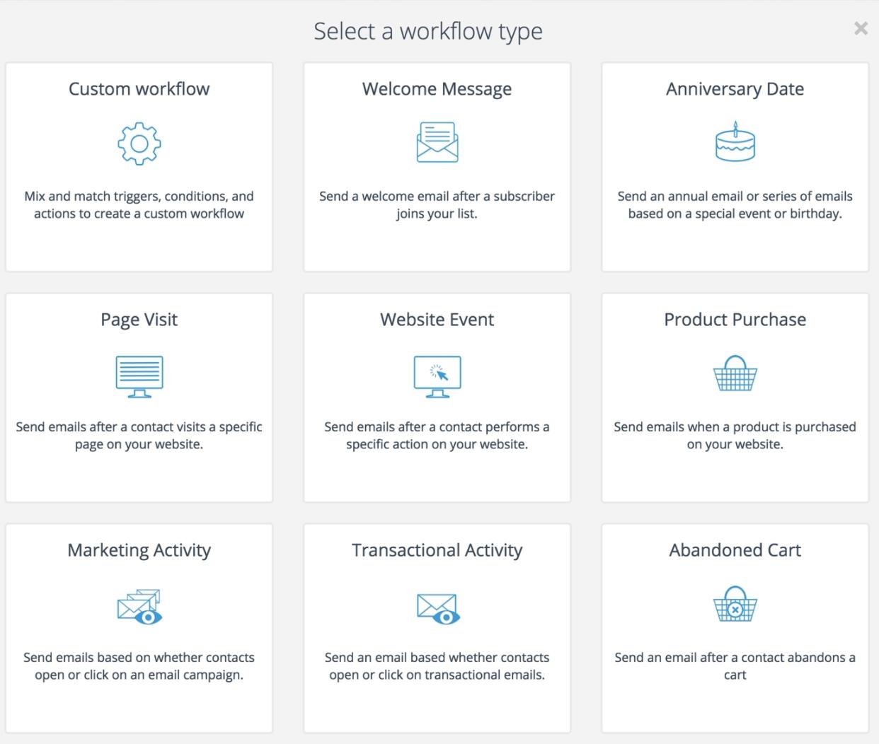 Sendinblue workflow templates