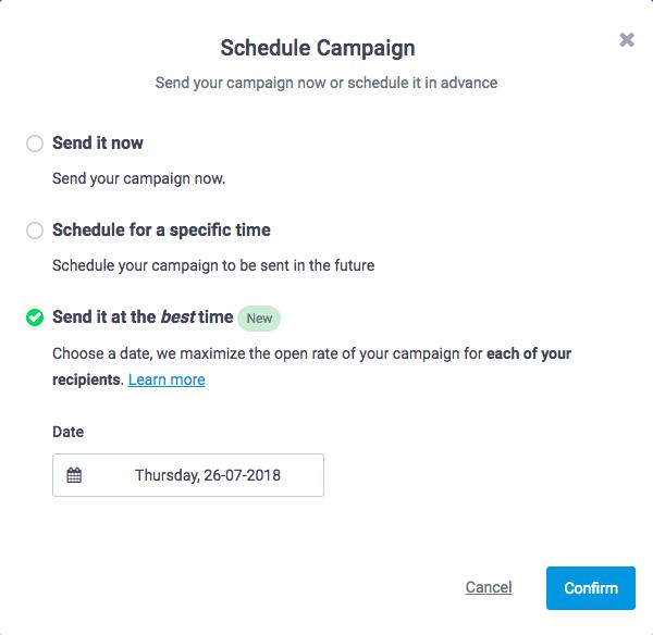 Sendinblue campaign scheduling