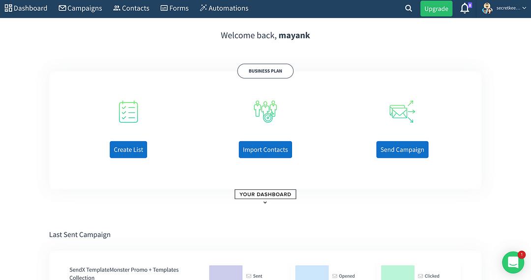 Mailchimp alternatives_SendX
