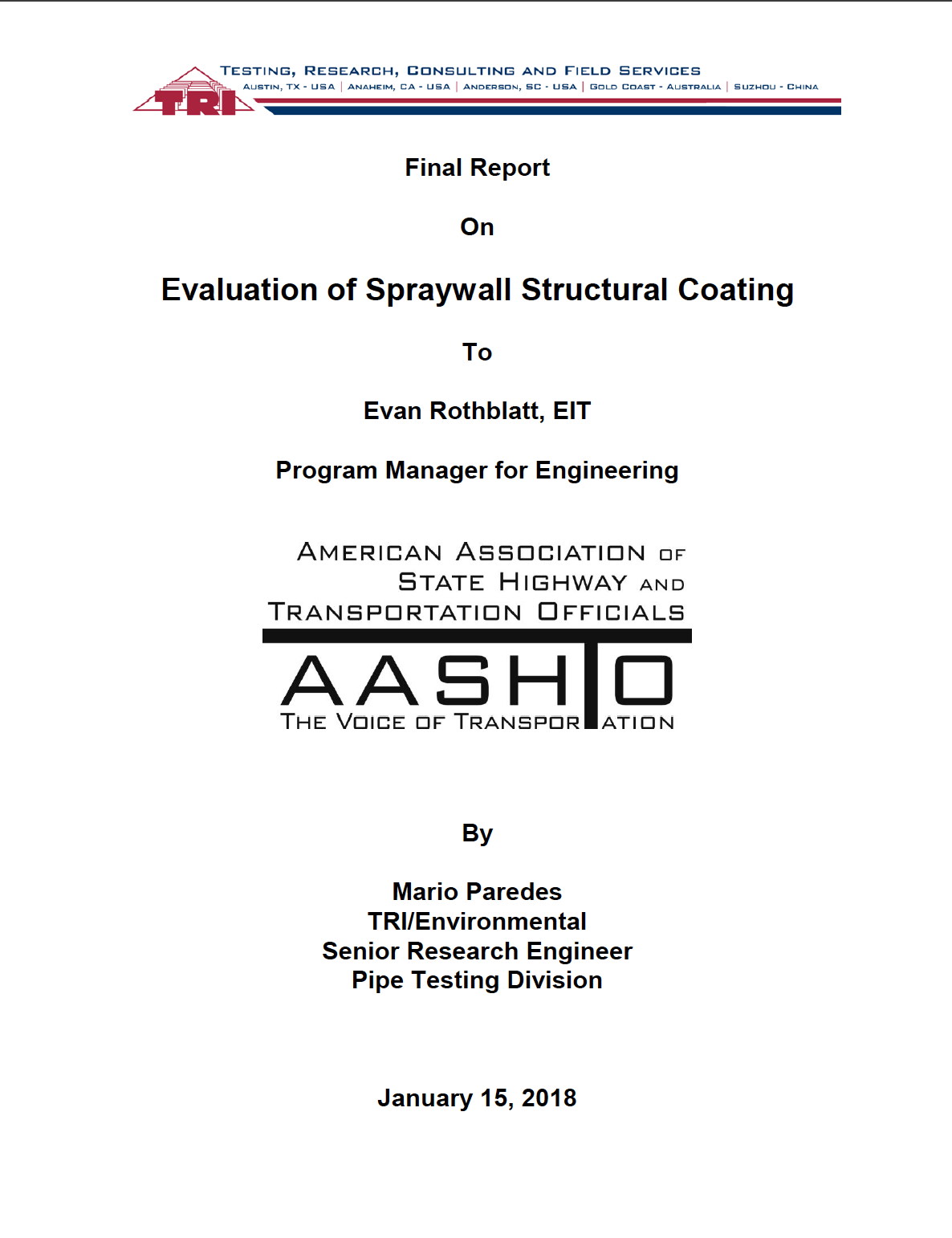 Sprayroq-AASHTO-EVALUATION