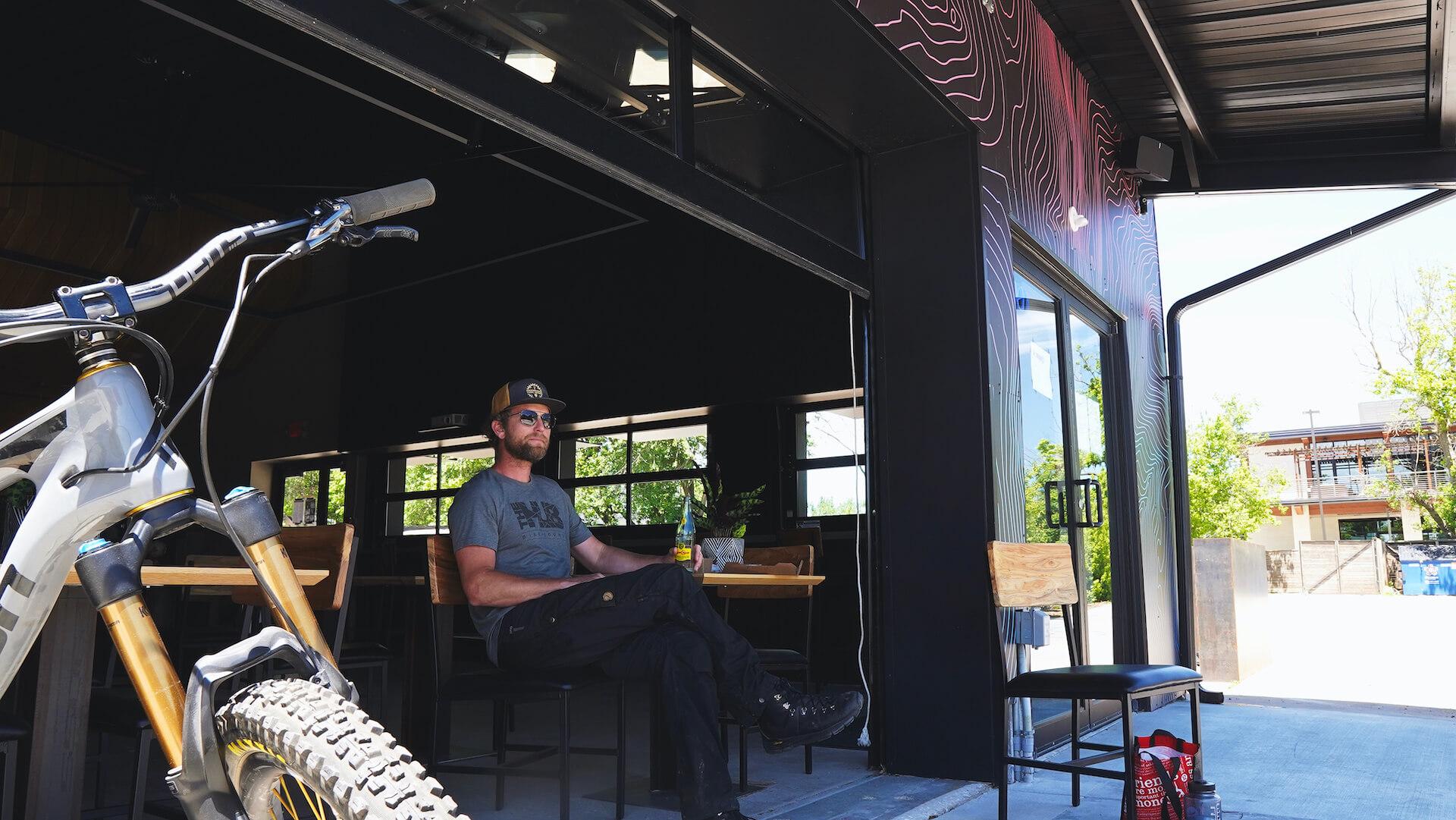 open garage door patio
