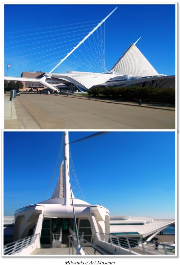 Milwaukee Art Museum, which looks like a sailboat.