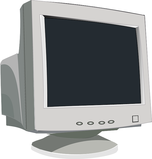 graphic of old computer monitor