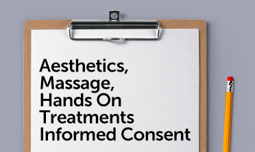Aesthetic treatments consent form mockup