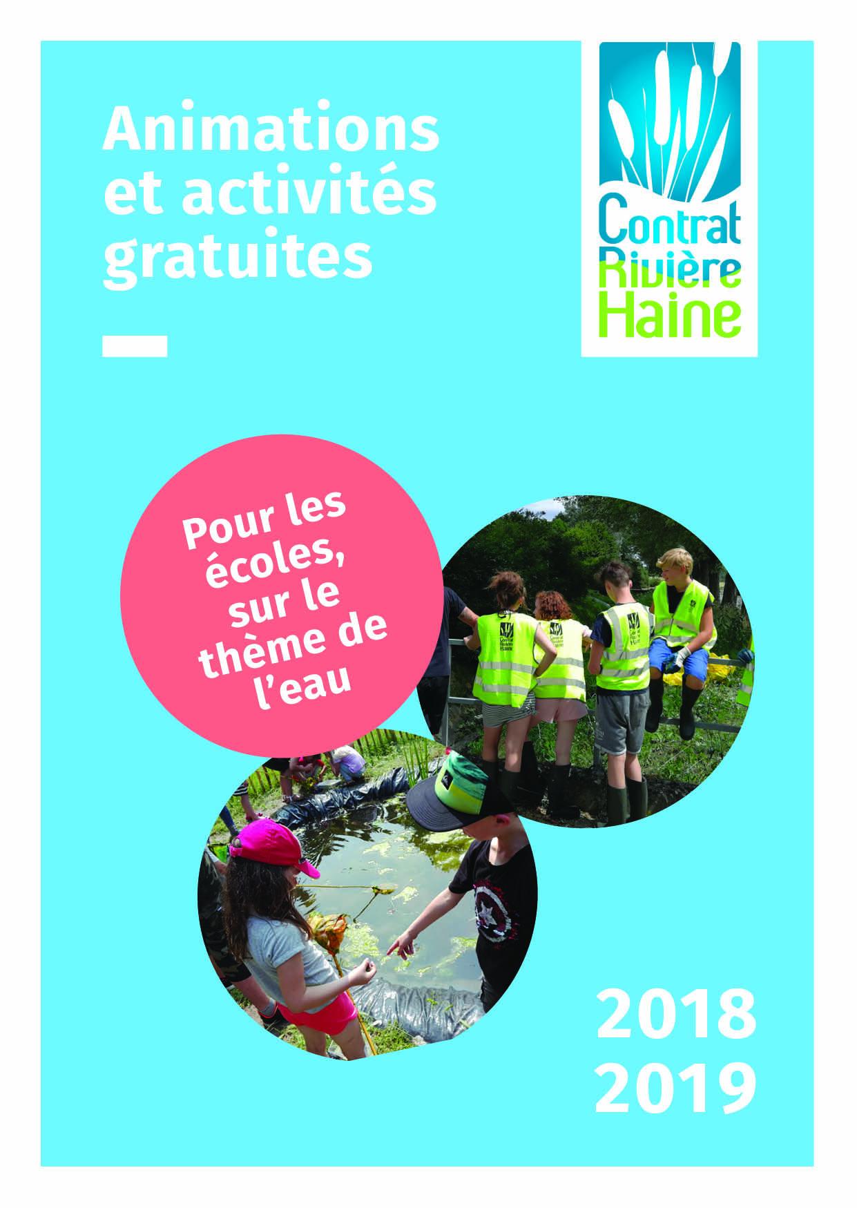 Catalogue des animations et activités gratuites du Contrat Rivière Haine