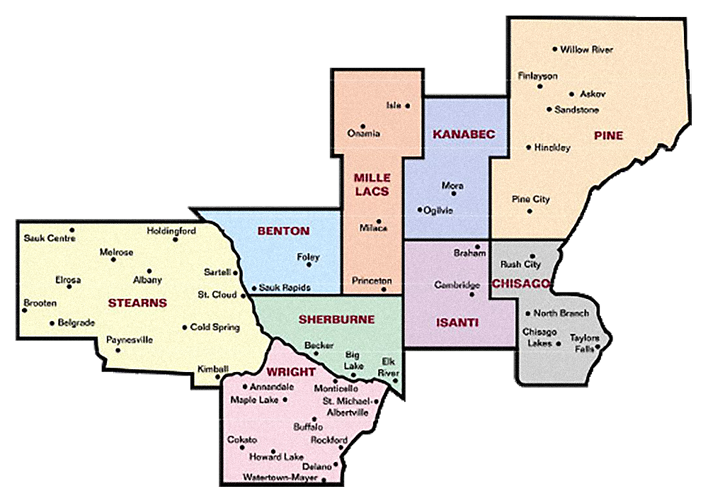 Counties map.