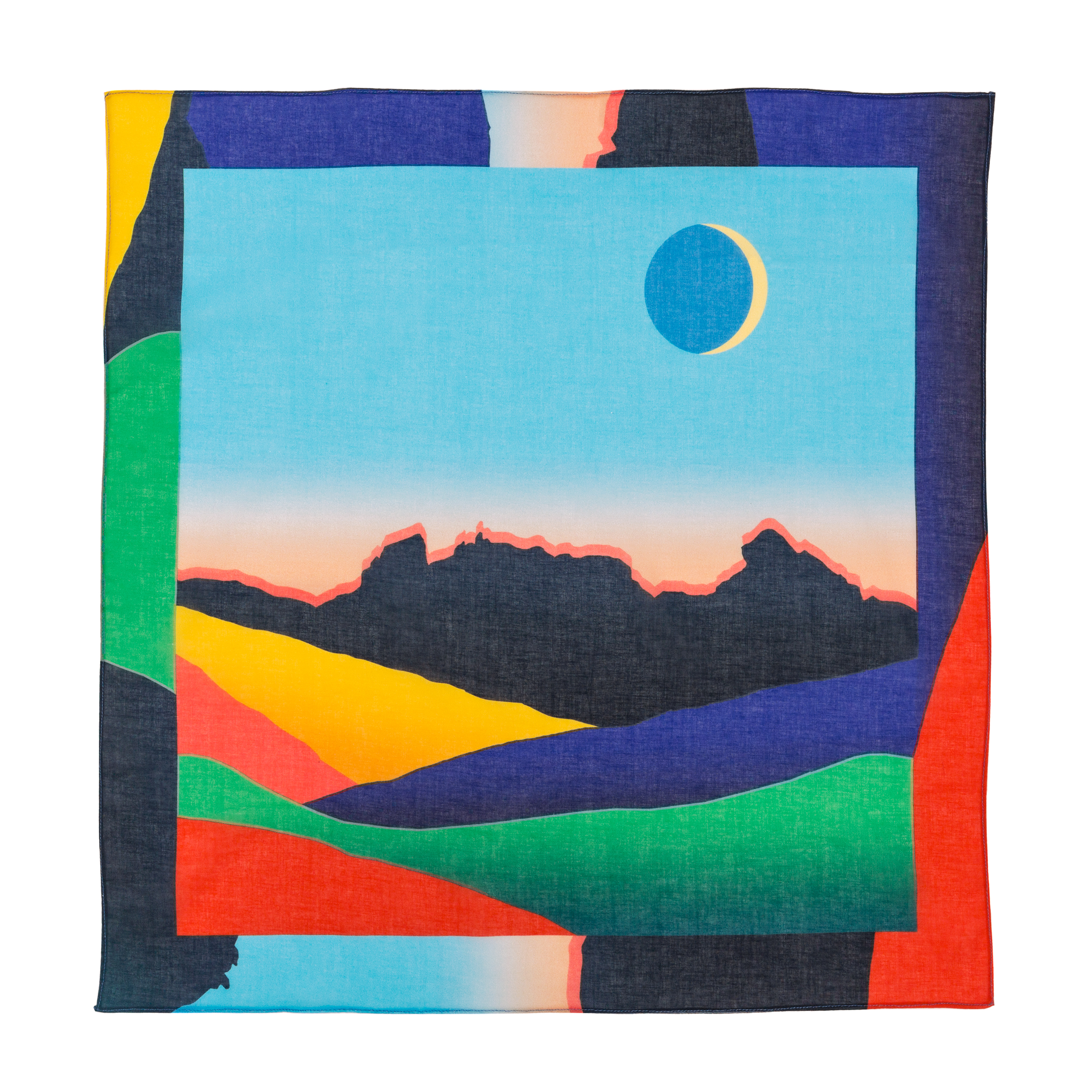 Sunset at the Cobbler Cotton Voile Scarf