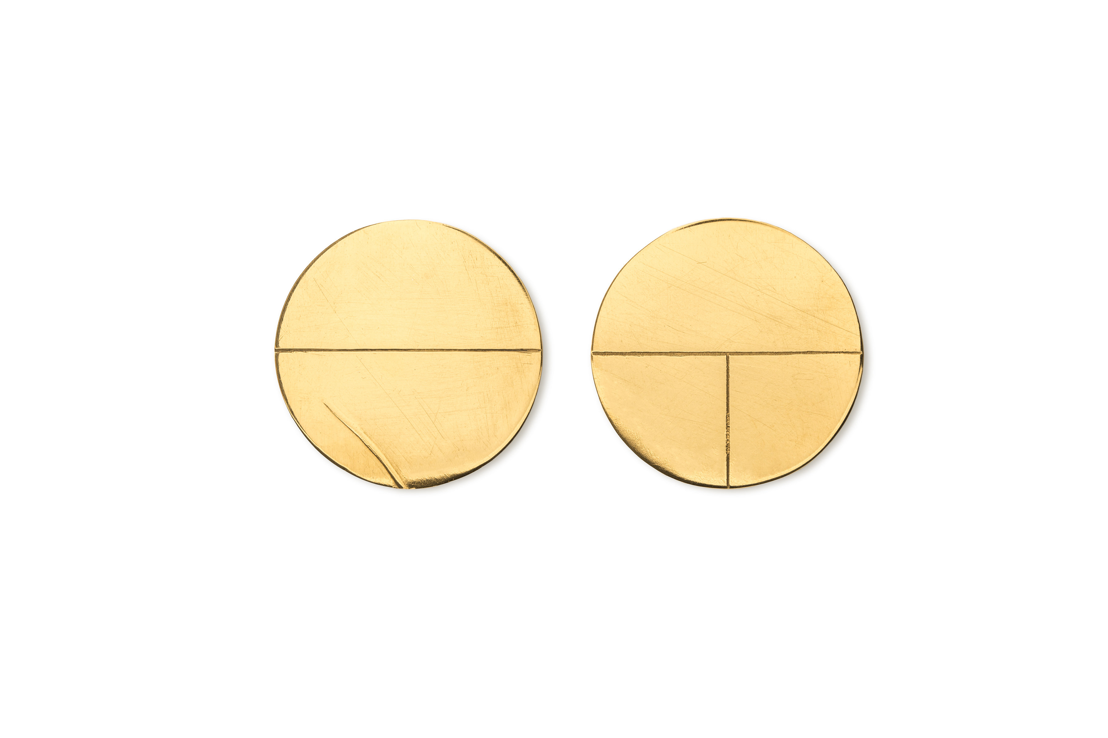 Large Circle Earrings 24ct Gold Plated Silver