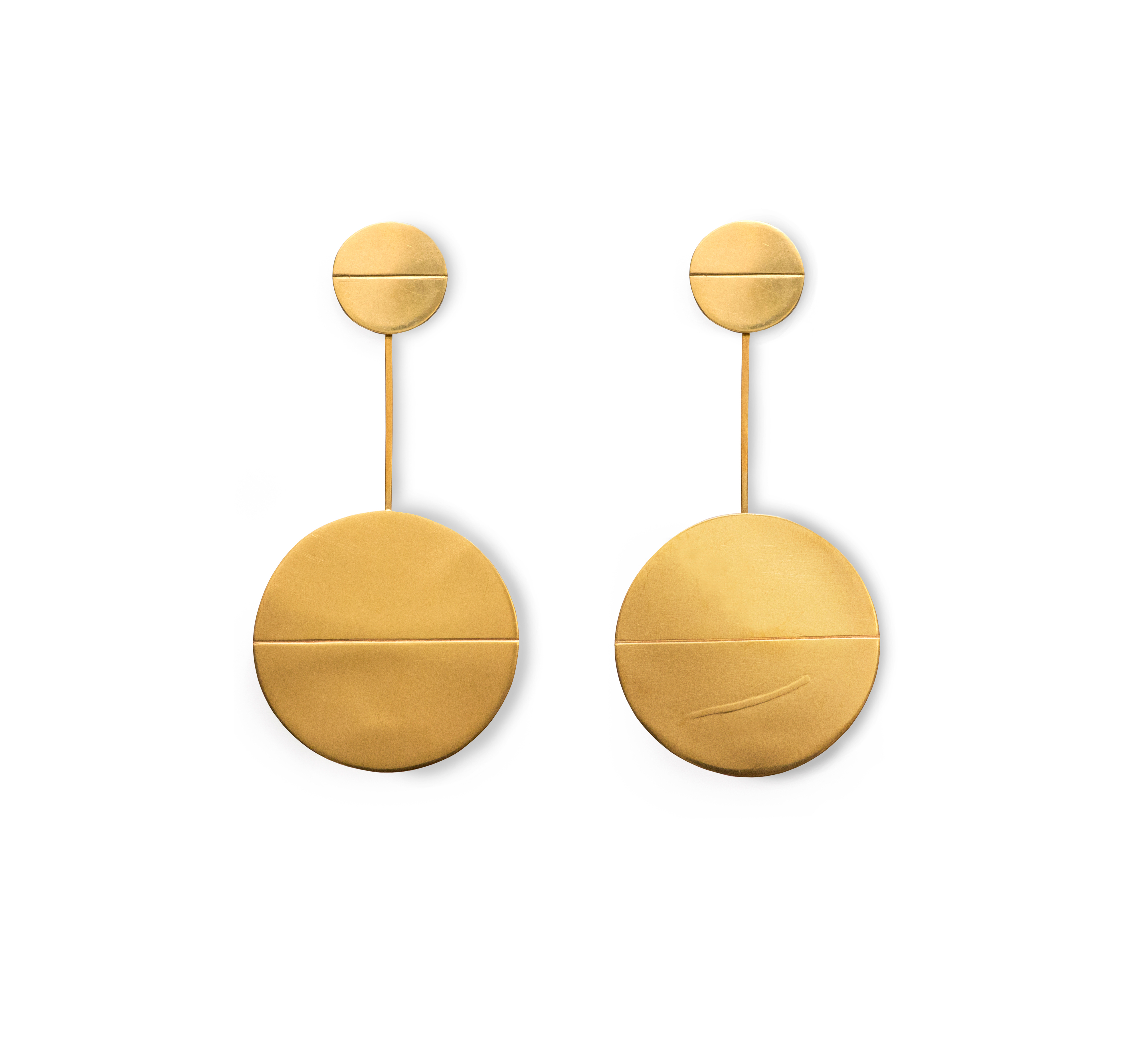24ct Gold Plated Silver Pendulum Earrings