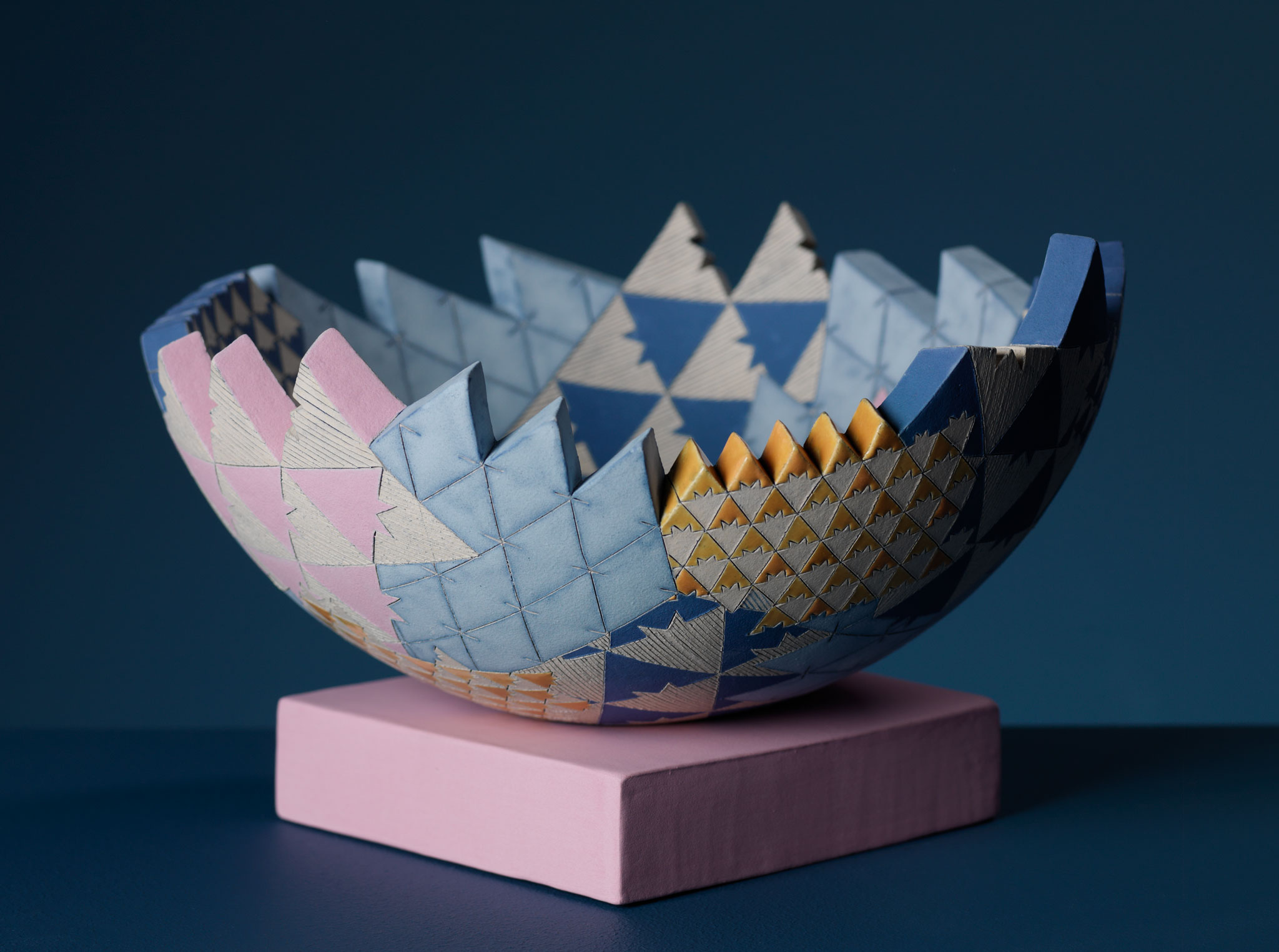 Frances Priest – Sculptural Vessel 'GatheringPlaces – Grammar of Ornament India ii' series, small
