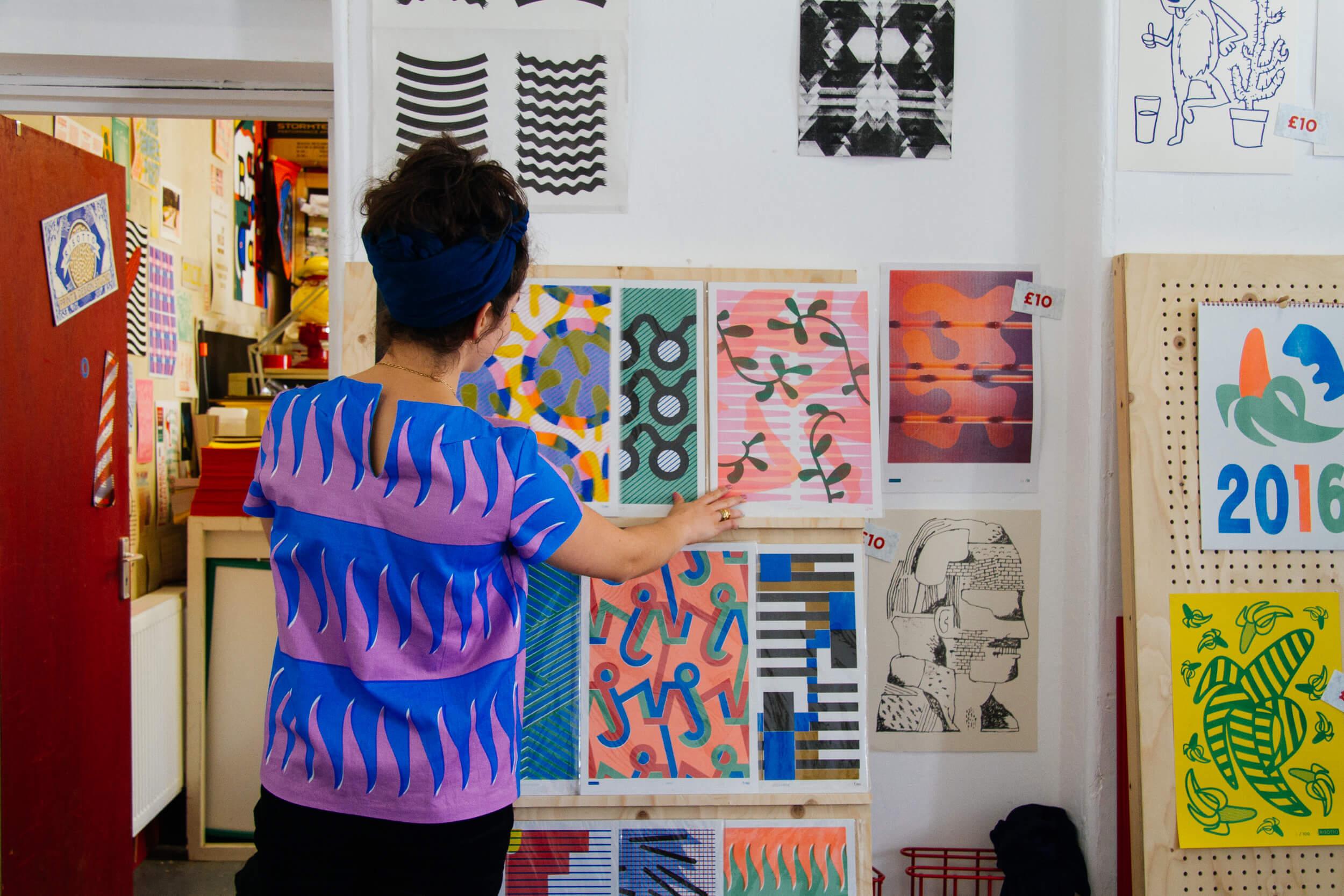 Gabriella Marcella in the Studio, photo by Future Positive Studio for Local Heroes