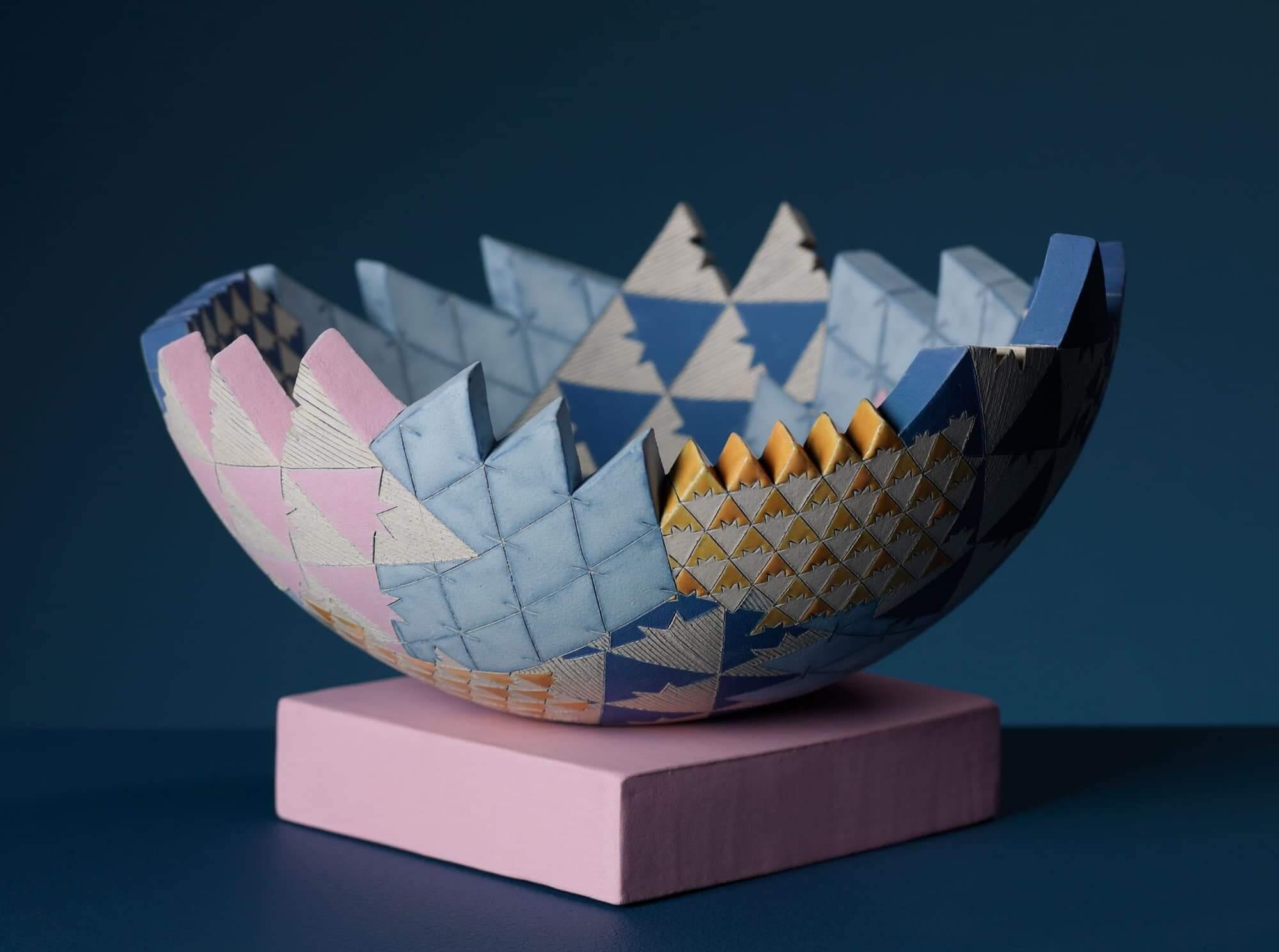 Frances Priest - Sculptural Vessel 'GatheringPlaces – Grammar of Ornament India ii' series, small