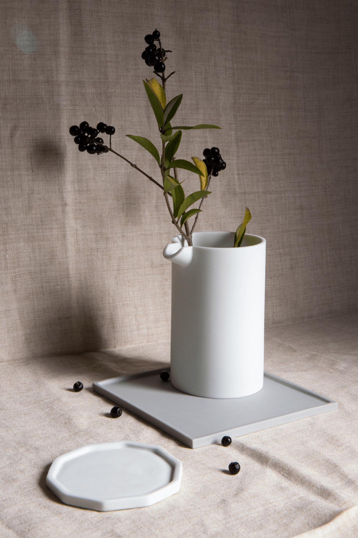 Natalie J Wood - Detsu parian clay pourer and plate