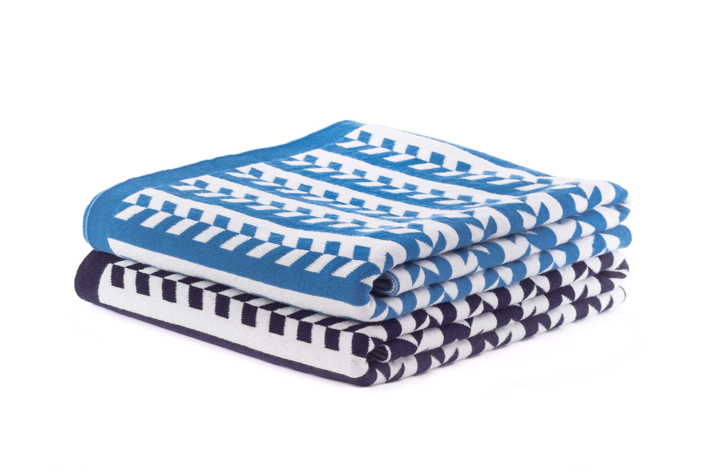 Local Heroes - Jennifer Kent - Transit Travel Blanket in Navy and Skye