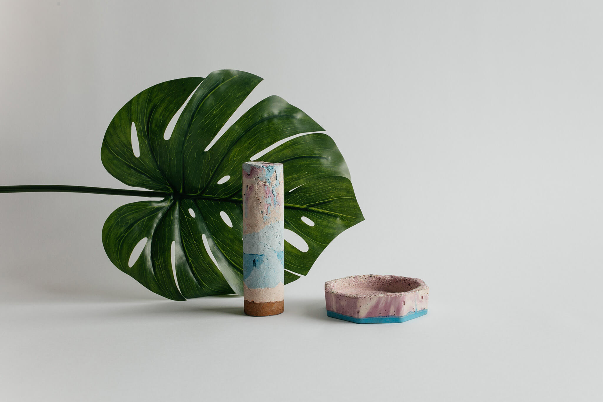 Emma McDowall - Concrete Vase and Concrete Coin Dish
