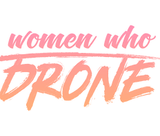Woman who drone logo