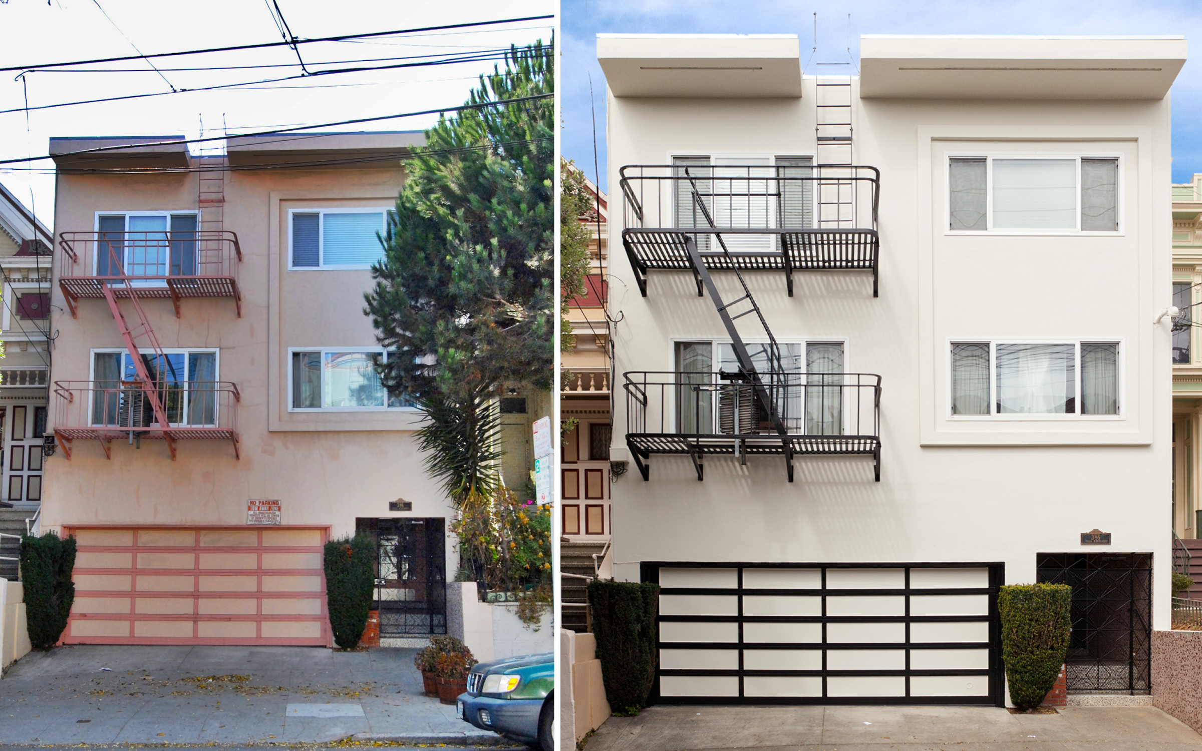 386 San Jose Ave, San Francisco Before and After Painting