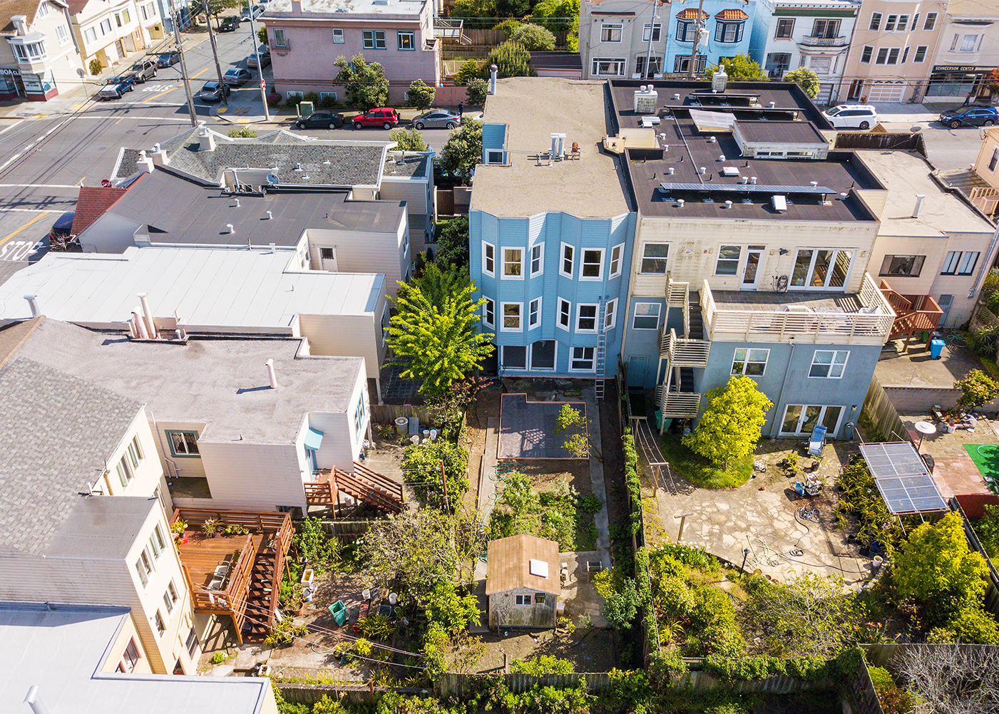 2618 Balboa St, San Francisco Aerial Backyard