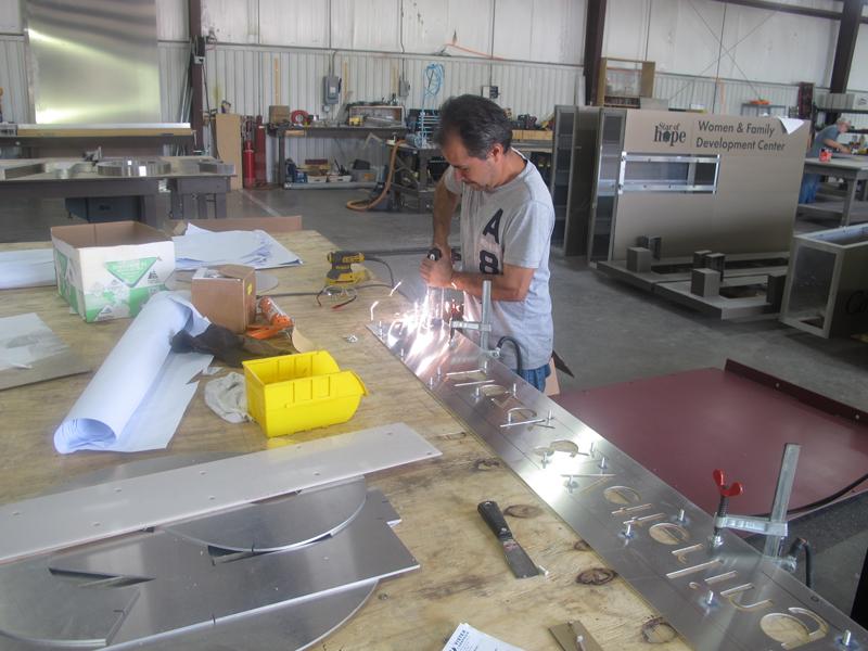 Fabricator using stud welding gun