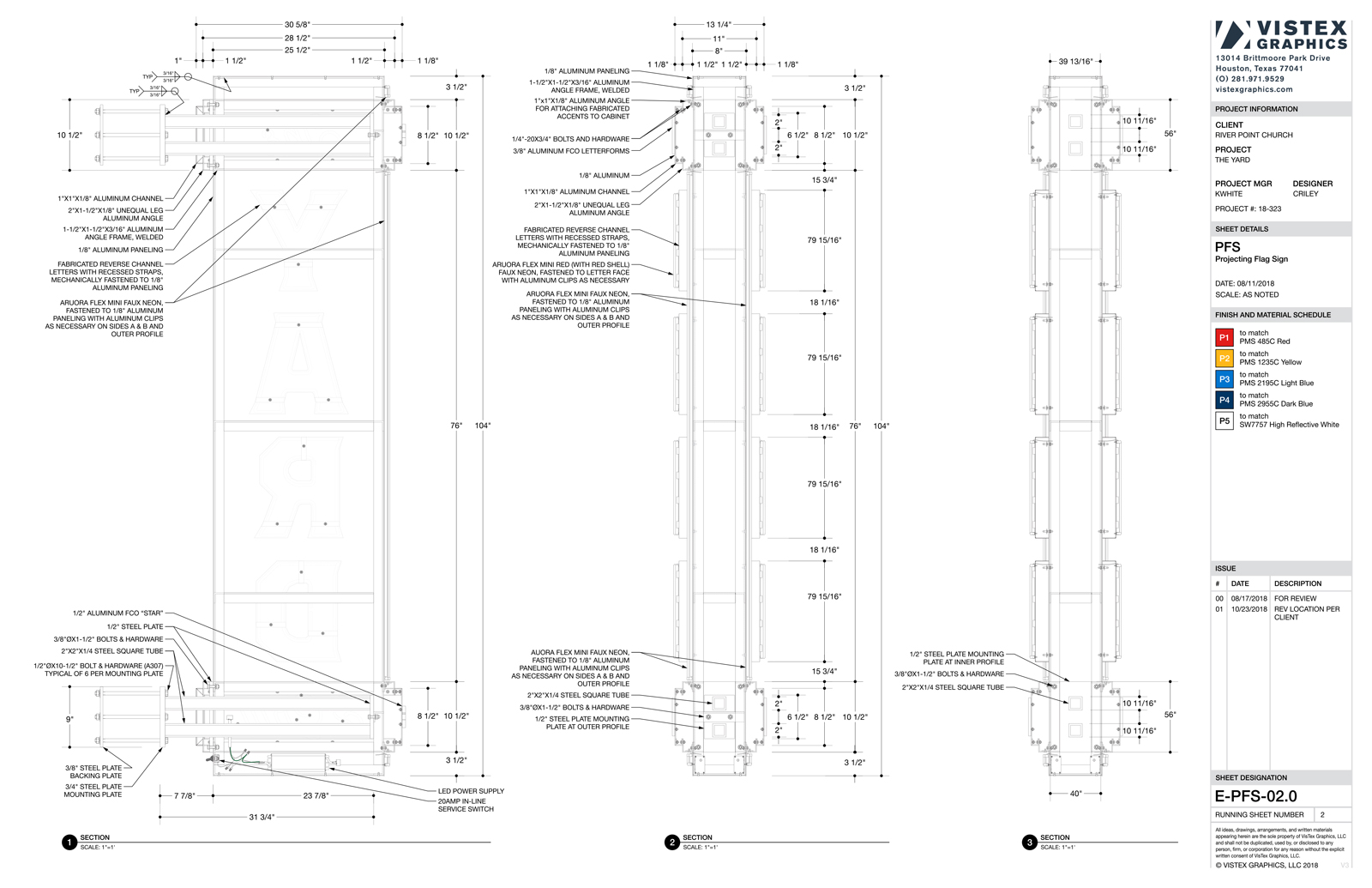 Example of fabrication drawing quality