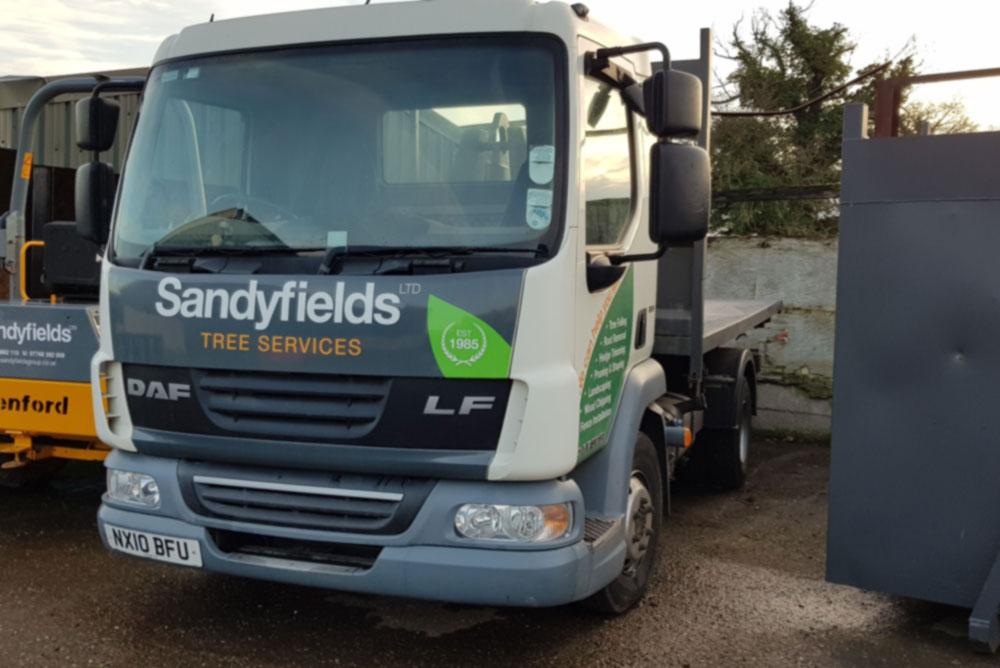 daf 7.5 tonne lorry