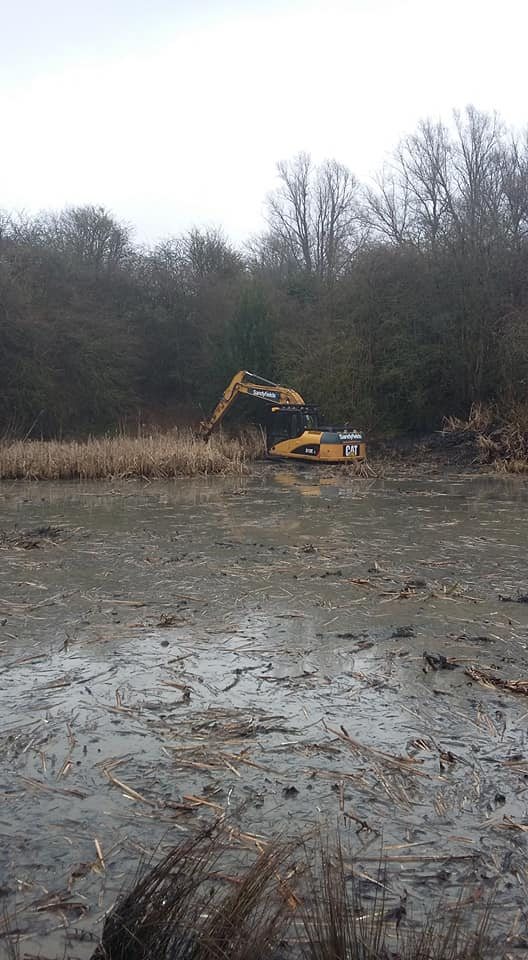 wildlife  pond desilting and dredging