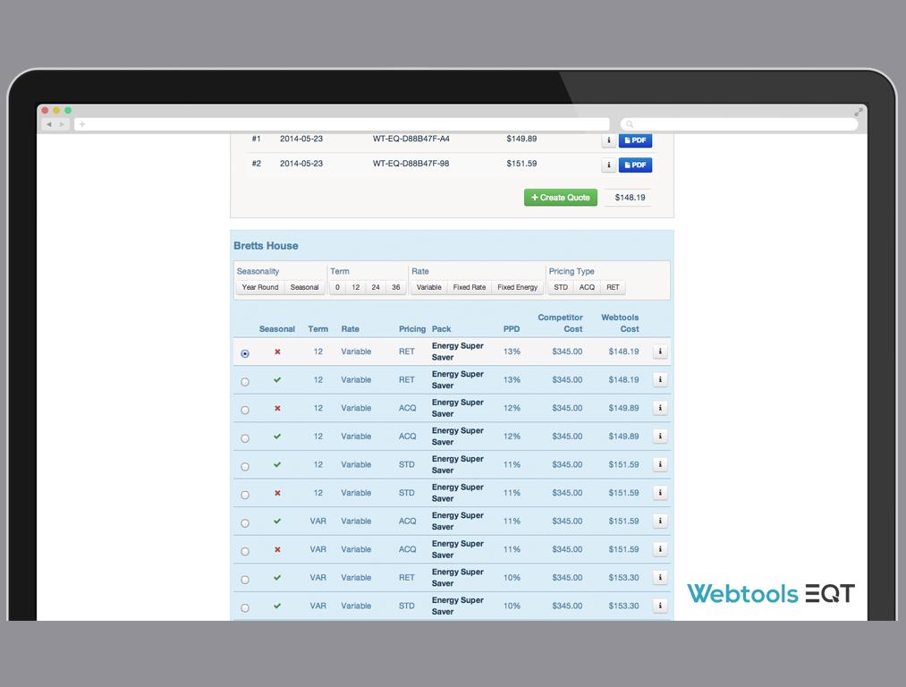 Webtools EQT Desktop