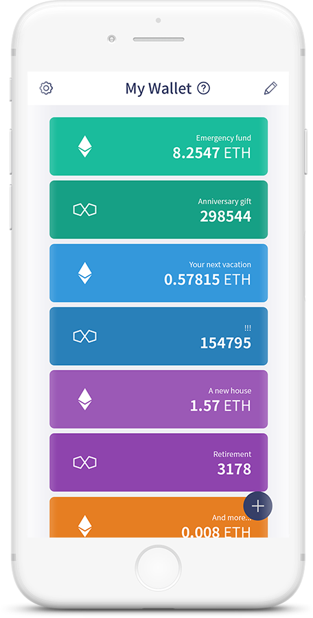 cryptocurrency wallet that is white and looks like iphone with ethereum, AMO, bitcoin wallets. Iti s a multi crpytocurrency wallet it is a best ERC-20 token wallet as it can eventually support  all types of ERC-20 token. The UI is very easy and and intuitive anyone can use without difficulty. it is the most safe cryptocurrency wallet. All confidential data such as private key, PIN, password, personal data are encrypted and safely stored in TEE. Popular external wallets like MyEtherWallet can be added and managed using Pallet. It is support more types of hot wallet. Accessing your account requires multifactor authentication. so it is extremely hard for hackers to hack into your wallet.