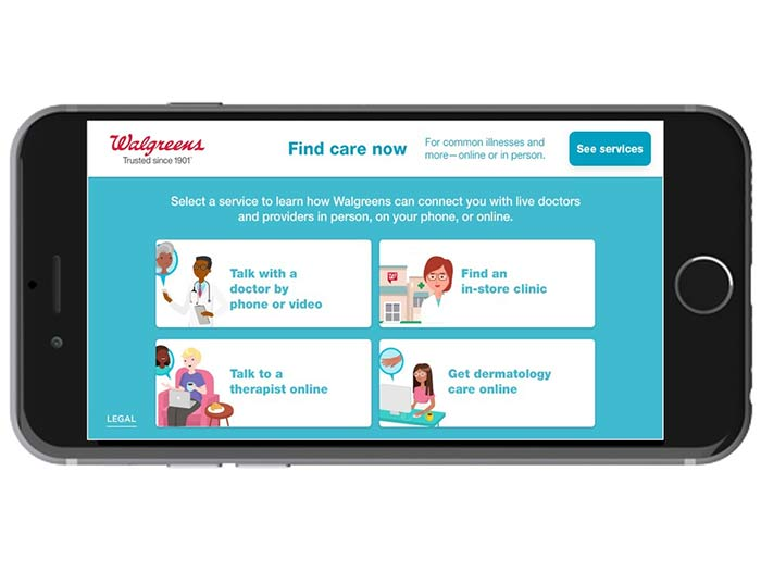 Image result for walgreens find care now
