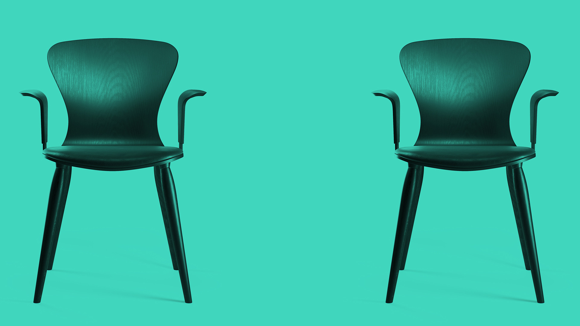 Graphic image of 2 black chairs