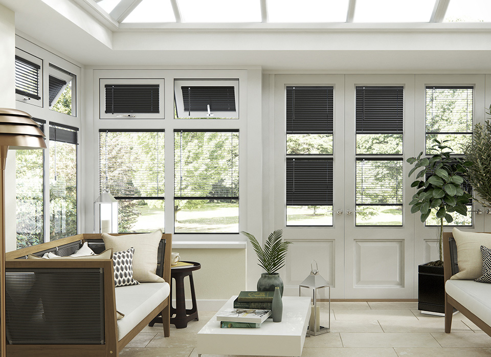 image of blinds insitu in conservatory