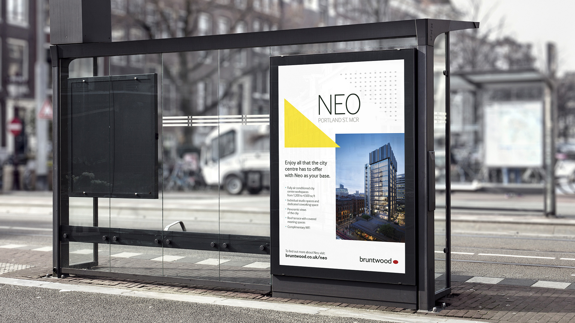 Image of 6 sheet advertising for Bruntwood Neo