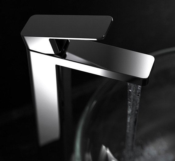 Stylised tall basin tap image