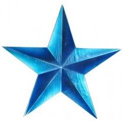 Blue Whitewash Star
