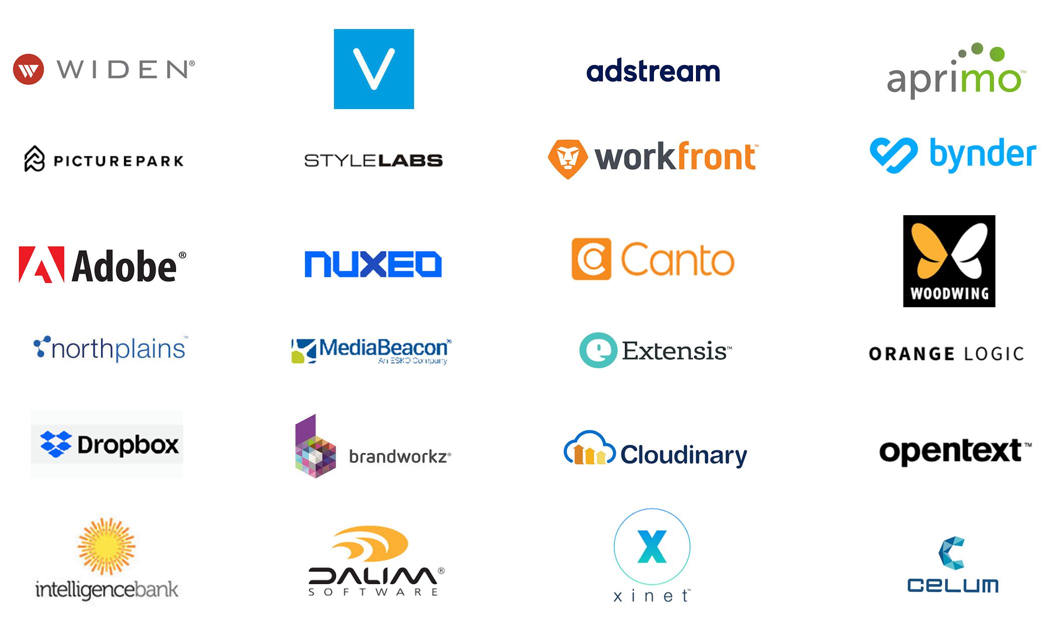 Widen,Veela, Adstream, picturepark, stylelabs, workfront, adobe, nuxeo, dalim
