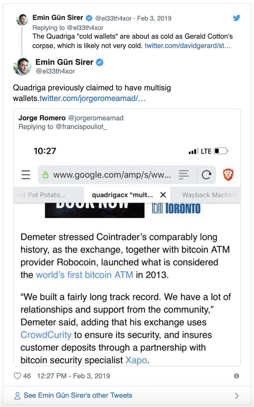 Shitcoin com Newsletter #30 - QuadrigaCX, Mt Gox Shenanigans & a