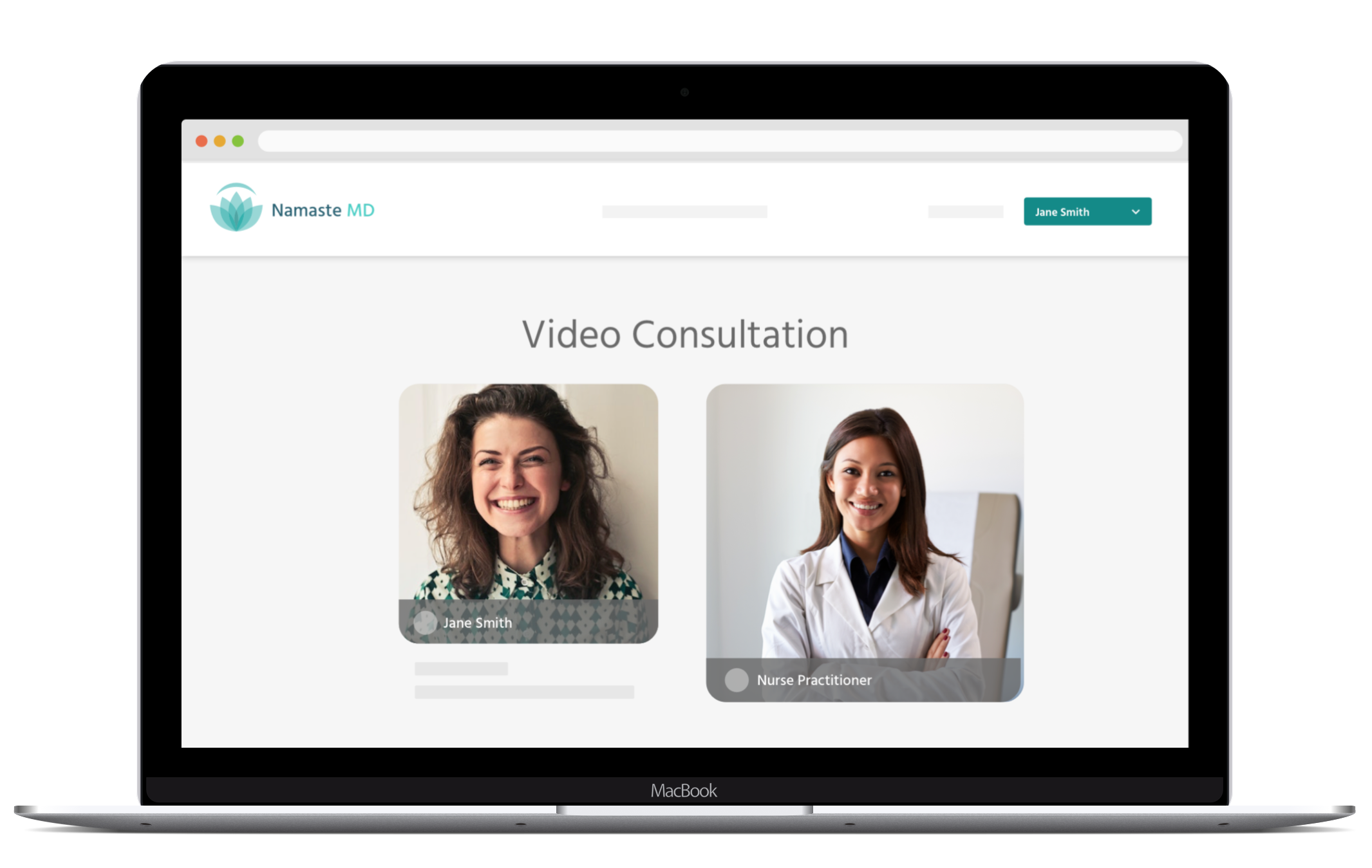 A computer screen showing video consultation