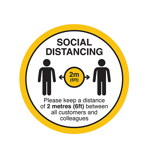 2m social distancing floor sticker